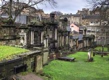 Vecchio cimitero a Edimburgo Fotografia Stock Libera da Diritti
