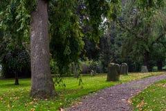 Vecchio cimitero in Germania Fotografia Stock Libera da Diritti