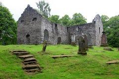 Vecchio cimitero gotico Fotografia Stock Libera da Diritti