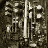 Vecchio circuito elettronico Fotografia Stock Libera da Diritti