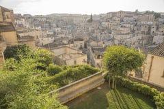 Vecchio-città Basilicata di Matera fotografie stock libere da diritti