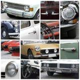 Vecchio collage delle automobili Immagine Stock Libera da Diritti