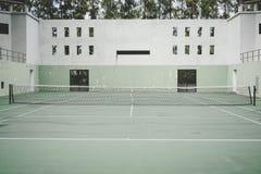 Vecchio Colosseo verde, campo da tennis immagini stock