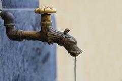 Vecchio colpetto di acqua esterno Immagini Stock Libere da Diritti