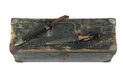 Vecchio coltello dalla seconda guerra mondiale Immagine Stock