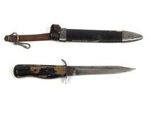 Vecchio coltello dalla seconda guerra mondiale Fotografia Stock Libera da Diritti