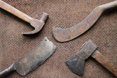 Vecchio coltello del martello dell'ascia Immagine Stock Libera da Diritti