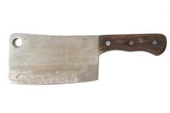 Vecchio coltello della mannaia Fotografia Stock Libera da Diritti