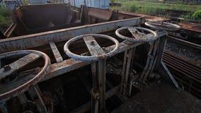Vecchio comando di chiusura per il contenitore del treno Immagine Stock