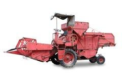 Vecchio combine rosso Fotografia Stock Libera da Diritti