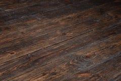 Vecchio, comitati di legno del grunge Priorità bassa di Braun Fotografia Stock