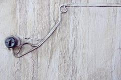 Vecchio commutatore sulla parete Fotografie Stock