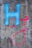 Vecchio compensato sporco con la lettera H e J Immagine Stock Libera da Diritti