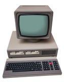 Vecchio computer grigio immagine stock