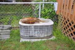 Vecchio condizionatore d'aria esterno Immagini Stock Libere da Diritti