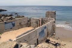 Vecchio conservificio dei pesci in Monterey, California immagini stock libere da diritti