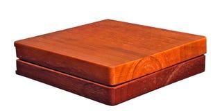 Vecchio contenitore di legno naturale di gioco da tavolo Fotografia Stock Libera da Diritti