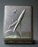 Vecchio contenitore sovietico di sigaretta Fotografie Stock Libere da Diritti