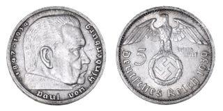 Vecchio contrassegno d'argento tedesco Fotografia Stock Libera da Diritti