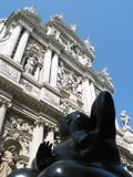 Vecchio contro nuovo a Venezia, Italia Immagine Stock