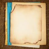 Vecchio copy-book in bianco Fotografia Stock