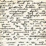 Vecchio copy-book della pagina Immagine Stock Libera da Diritti