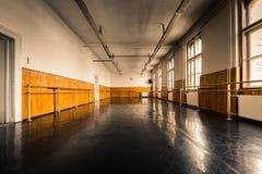 Vecchio corridoio di balletto Fotografie Stock Libere da Diritti