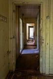 Vecchio corridoio di legno Fotografie Stock