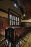 Vecchio corridoio storico della cappella fotografia stock