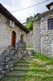 Vecchio cortile in Berat, Albania Immagine Stock Libera da Diritti