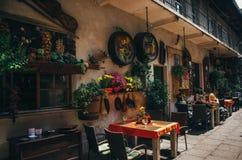Vecchio cortile ebreo di Kazimierz a Cracovia fotografia stock libera da diritti