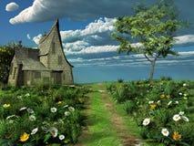 Vecchio cottage Immagini Stock Libere da Diritti