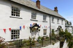 Vecchio cottage a Clovelly, Devon Fotografia Stock Libera da Diritti