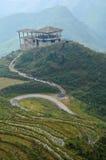 Vecchio cottage d'annata sopra la montagna di Sapa nel Vietnam Fotografia Stock