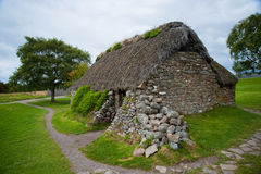 Vecchio cottage di Leanach Fotografia Stock Libera da Diritti