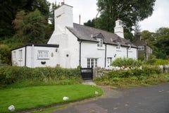 Vecchio cottage di pietra Fotografia Stock