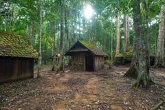 Vecchio cottage nel parco nazionale di Phu Hin Rong Kla Fotografia Stock Libera da Diritti