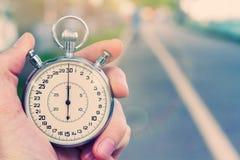 Vecchio cronometro d'annata Immagini Stock