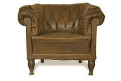 Vecchio cuoio armchair-2 Fotografie Stock