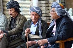 Vecchio curdo equipaggia fotografie stock
