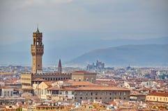 Vecchio de Palazzo en Florencia fotografía de archivo