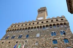 Vecchio de Palazzo en Florencia Fotos de archivo libres de regalías