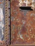 Vecchio deatail del treno del ferro Fotografie Stock Libere da Diritti