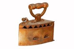 Vecchio del ferro da stiro isolato Fotografie Stock Libere da Diritti