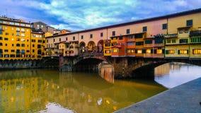 Vecchio del pomte de Firenze Imagen de archivo libre de regalías