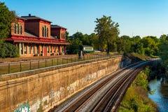Vecchio deposito di treno Immagini Stock Libere da Diritti