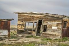 Vecchio deposito o stazione di servizio Fotografie Stock