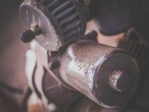 Vecchio dettaglio del motore di automobile Fotografia Stock Libera da Diritti