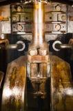 Vecchio dettaglio del pistone della centrale elettrica Immagine Stock Libera da Diritti