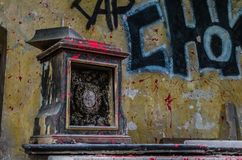 vecchio dettaglio dell'altare Immagini Stock